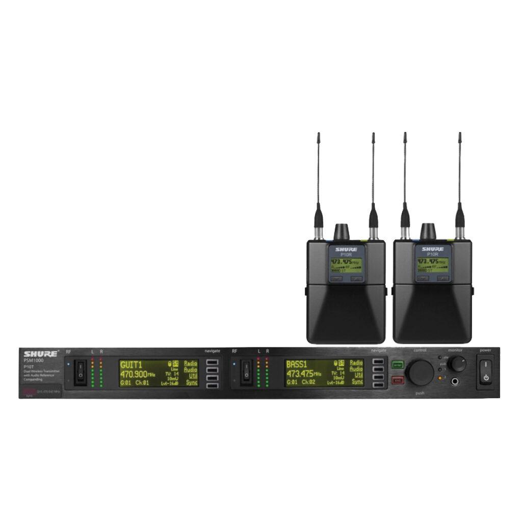Shure 2 x PSM1000 in-ear + 4xP10R+SE215 ears 4CH