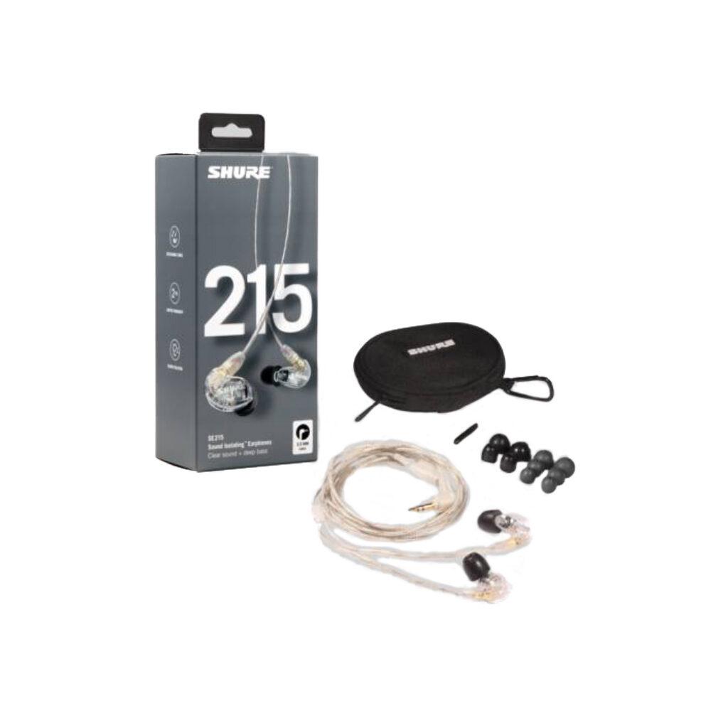Shure SE215-CL gesloten in-ear oordoppen